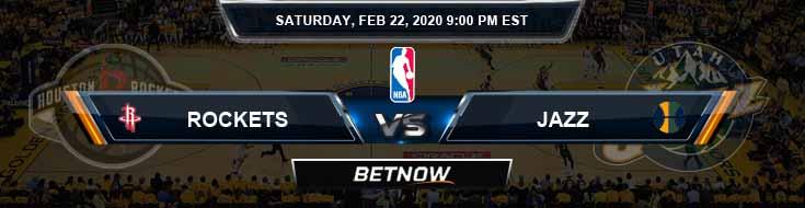 Houston Rockets vs Utah Jazz 02-22-2020 Spread Previews and Prediction