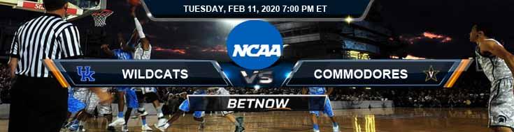 Kentucky Wildcats vs Vanderbilt Commodores 2/11/2020 Picks, Predictions and Preview