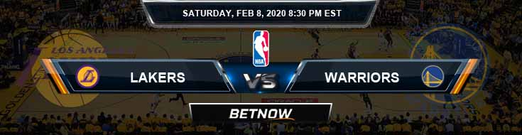 Los Angeles Lakers vs Golden State Warriors 02-08-2020 NBA Odds and Picks