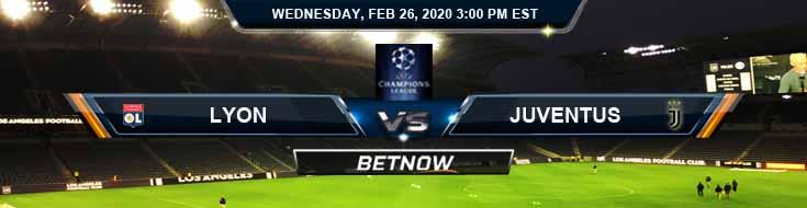 Lyon vs Juventus 02-26-2020 Soccer Predictions Betting Picks and Preview