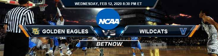 Marquette Golden Eagles vs Villanova Wildcats 2/12/2020 Spread, Odds and Picks
