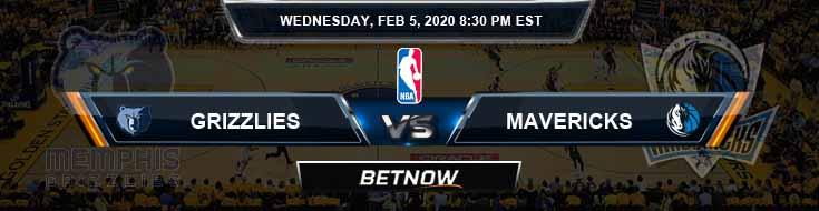 Memphis Grizzlies vs Dallas Mavericks 02-05-2020 Odds Picks and Previews
