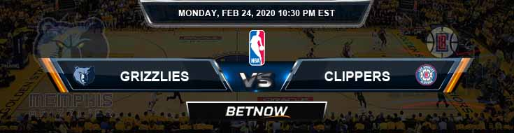 Memphis Grizzlies vs Los Angeles Clippers 2-24-2020 Spread Odds and Picks