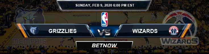 Memphis Grizzlies vs Washington Wizards 2-9-2020 NBA Odds and Previews