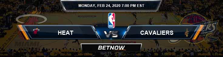 Miami Heat vs Cleveland Cavaliers 2-24-2020 Odds Picks and Prediction