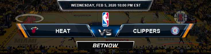 Miami Heat vs Los Angeles Clippers 2-5-2020 NBA Odds and Game Analysis