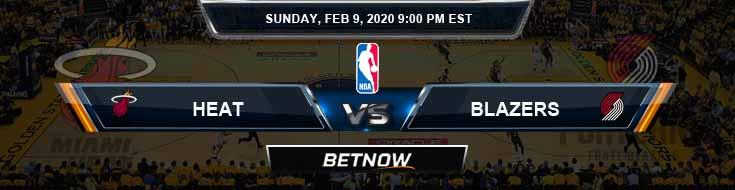 Miami Heat vs Portland Trail Blazers 2-9-2020 Odds Picks and Previews