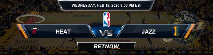 Miami Heat vs Utah Jazz 2-12-2020 Odds Previews and Game Analysis