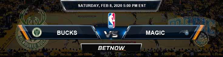 Milwaukee Bucks vs Orlando Magic 2-8-2020 Odds Picks and Previews