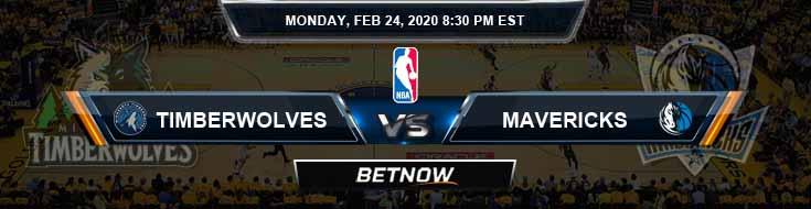 Minnesota Timberwolves vs Dallas Mavericks 2-24-2020 NBA Odds and Picks