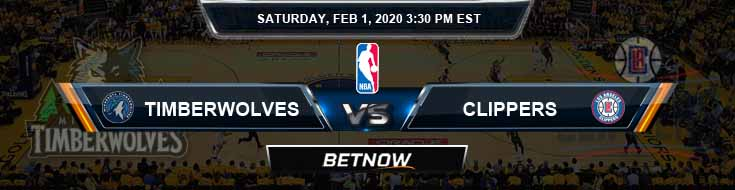 Minnesota Timberwolves vs Los Angeles Clippers 2-01-2020 NBA Odds and Picks