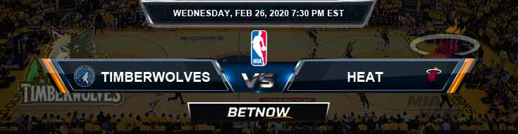 Minnesota Timberwolves vs Miami Heat 02-26-2020 Odds Picks and Previews