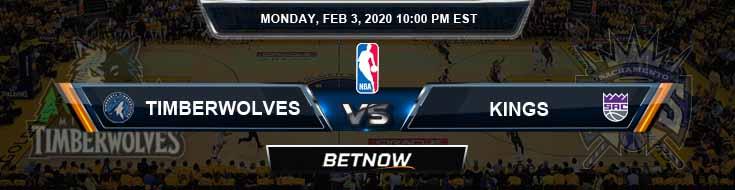 Minnesota Timberwolves vs Sacramento Kings 2-3-2020 NBA Odds and Picks