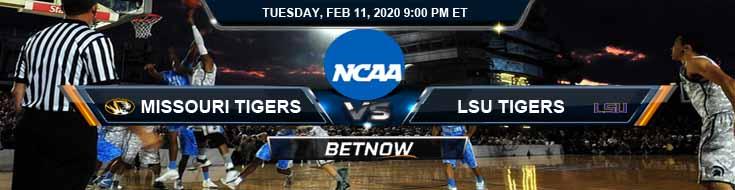 Missouri Tigers vs LSU Tigers 2-11-2020 NCAAB Predictions Odds and Betting Picks