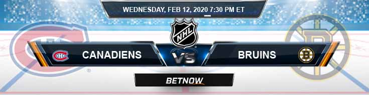 Montreal Canadiens vs Boston Bruins 02-12-2020 Picks Predictions and Preview