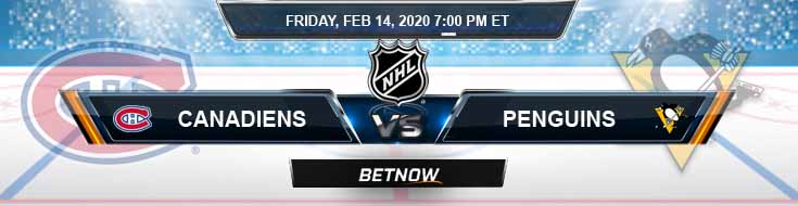 Montreal Canadiens vs Pittsburgh Penguins 02-14-2020 Game Analysis Odds and Predictions