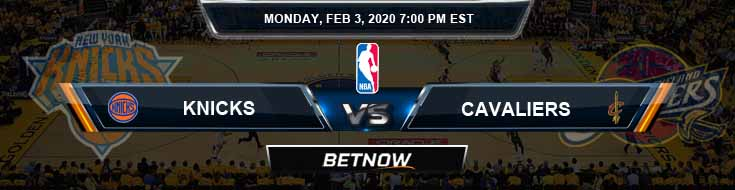 New York Knicks vs Cleveland Cavaliers 02-03-2020 NBA Picks and Previews