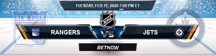 New York Rangers vs Winnipeg Jets 02-11-2020 NHL Predictions Betting Odds and Preview