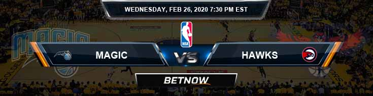 Orlando Magic vs Atlanta Hawks 02-26-2020 Spread Picks and Previews