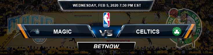 Orlando Magic vs Boston Celtics 02-05-2020 Spread Picks and Prediction