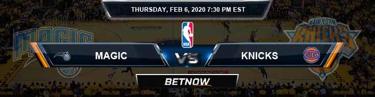 Orlando Magic vs New York Knicks 2-6-2020 Odds Picks and Previews