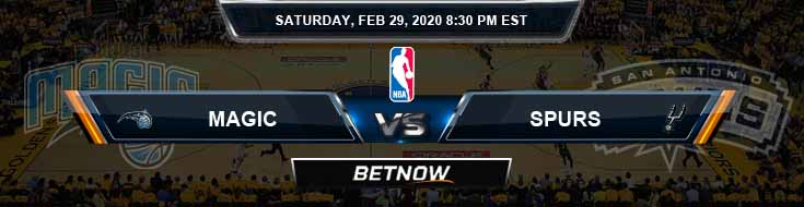 Orlando Magic vs San Antonio Spurs 2-29-2020 Odds Picks and Previews