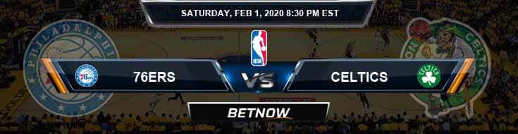 Philadelphia 76ers vs Boston Celtics 2-1-2020 Spread Odds and Prediction