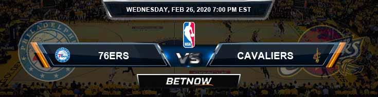 Philadelphia 76ers vs Cleveland Cavaliers 2-26-2020 NBA Odds and Picks