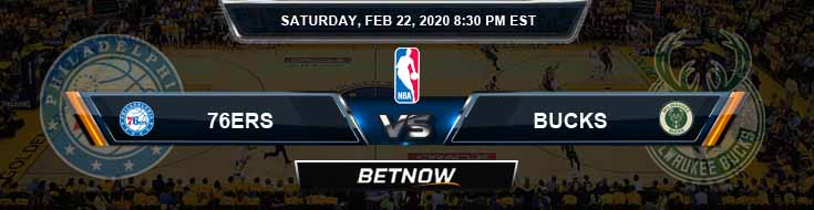 Philadelphia 76ers vs Milwaukee Bucks 02-22-2020 NBA Spread and Picks