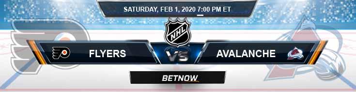 Philadelphia Flyers vs Colorado Avalanche 02-01-2020 Predictions Picks and NHL Betting Odds