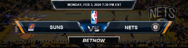 Phoenix Suns vs Brooklyn Nets 02-03-2020 NBA Odds and Game Analysis