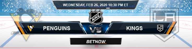 Pittsburgh Penguins vs Los Angeles Kings 02-26-2020 NHL Predictions Betting Odds and Preview