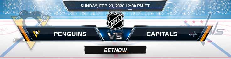Pittsburgh Penguins vs Washington Capitals 02-23-2020 NHL Preview Game Analysis and Odds