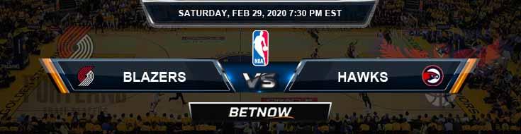 Portland Trail Blazers vs Atlanta Hawks 2-29-2020 Odds Picks and Previews
