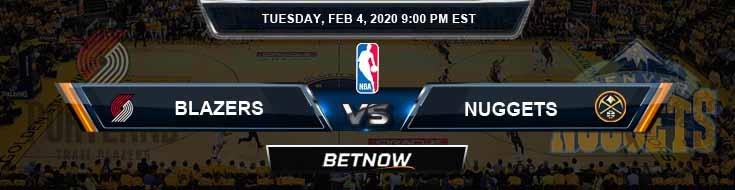 Portland Trail Blazers vs Denver Nuggets 2-4-2020 NBA Picks and Previews
