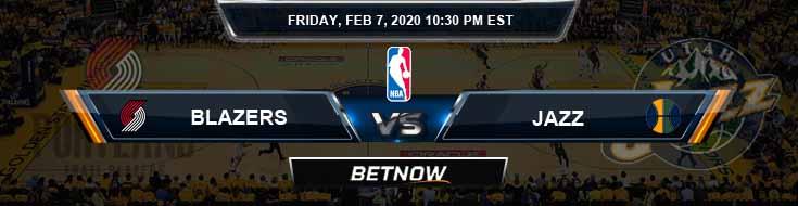 Portland Trail Blazers vs Utah Jazz 2-7-2020 Odds Picks and Previews