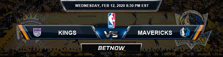 Sacramento Kings vs Dallas Mavericks 2-12-2020 Spread Odds and Picks