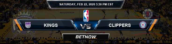 Sacramento Kings vs Los Angeles Clippers 2-22-2020 NBA Spread and Picks