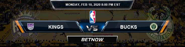 Sacramento Kings vs Milwaukee Bucks 2-10-2020 NBA Spread and Picks