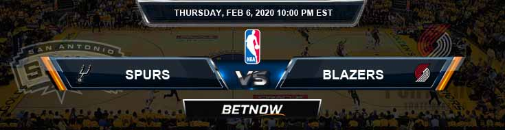 San Antonio Spurs vs Portland Trail Blazers 02-06-2020 NBA Odds and Picks