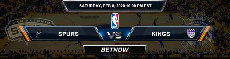 San Antonio Spurs vs Sacramento Kings 02-08-2020 NBA Odds and Picks