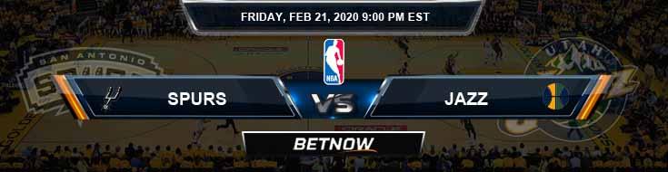 San Antonio Spurs vs Utah Jazz 02-21-2020 Odds Picks and Previews