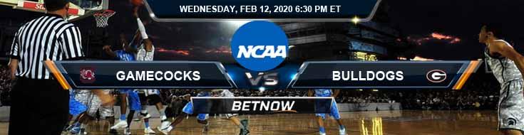 South Carolina Gamecocks vs Georgia Bulldogs 2/12/2020 Picks, Predictions and Preview