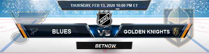 St. Louis Blues vs Vegas Golden Knights 02-13-2020 Preview NHL Picks and Betting Odds