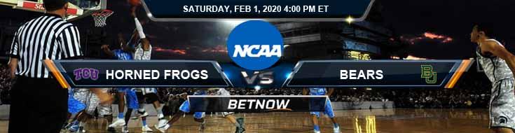 TCU Horned Frogs vs Baylor Bears 2/1/2020 Odds, Picks and Spread