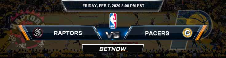 Toronto Raptors vs Indiana Pacers 2-7-2020 Odds Picks and Prediction