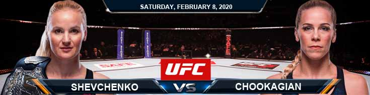 UFC 247 Shevchenko vs Chookagian 02-08-2020 UFC Preview Betting Odds and Spread