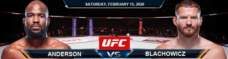 UFC Fight Night 167 Anderson vs Blachowiczi 02-15-2020 Picks Predictions and Previews