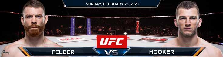 UFC Fight Night 168 Felder vs Hooker 2-23-2020 Picks Predictions and Previews
