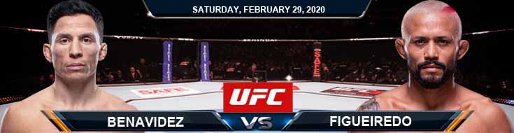 UFC Fight Night 169 Benavidez vs Figueiredo 2-29-2020 Picks, Predictions and Previews